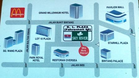 sky river map